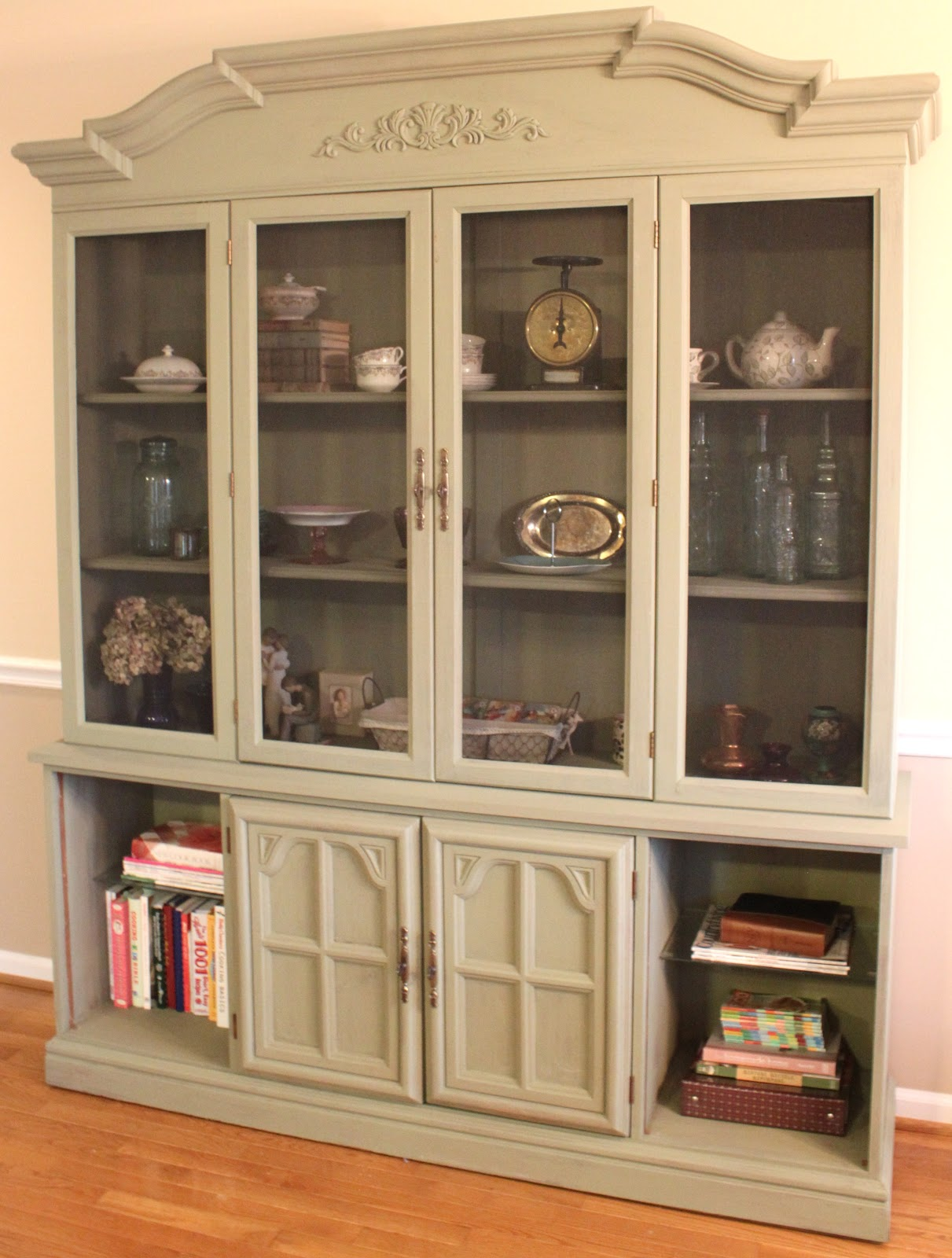 China Cabinet Turned Farmhouse Style Pantry