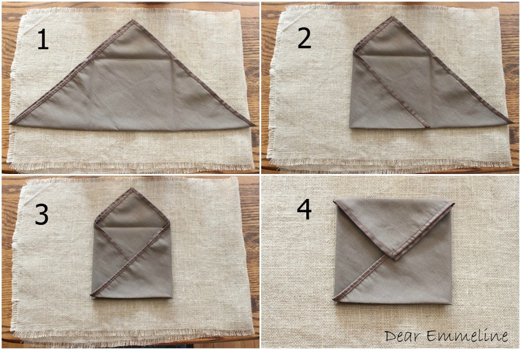 How To Make Table Napkin Designs how to create a modern napkin fold I Ironed Each Of My Folds To Create A Crisp Paper Like Look That Stayed In Place Well
