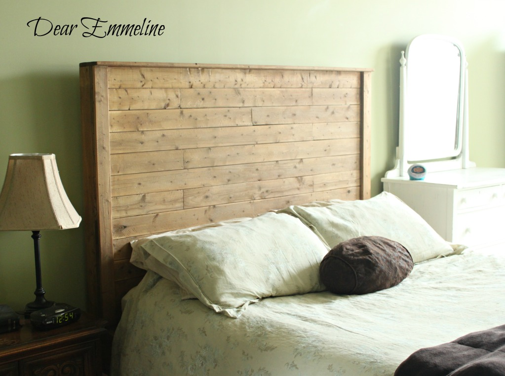 The building of a bed {queen bed frame plans}