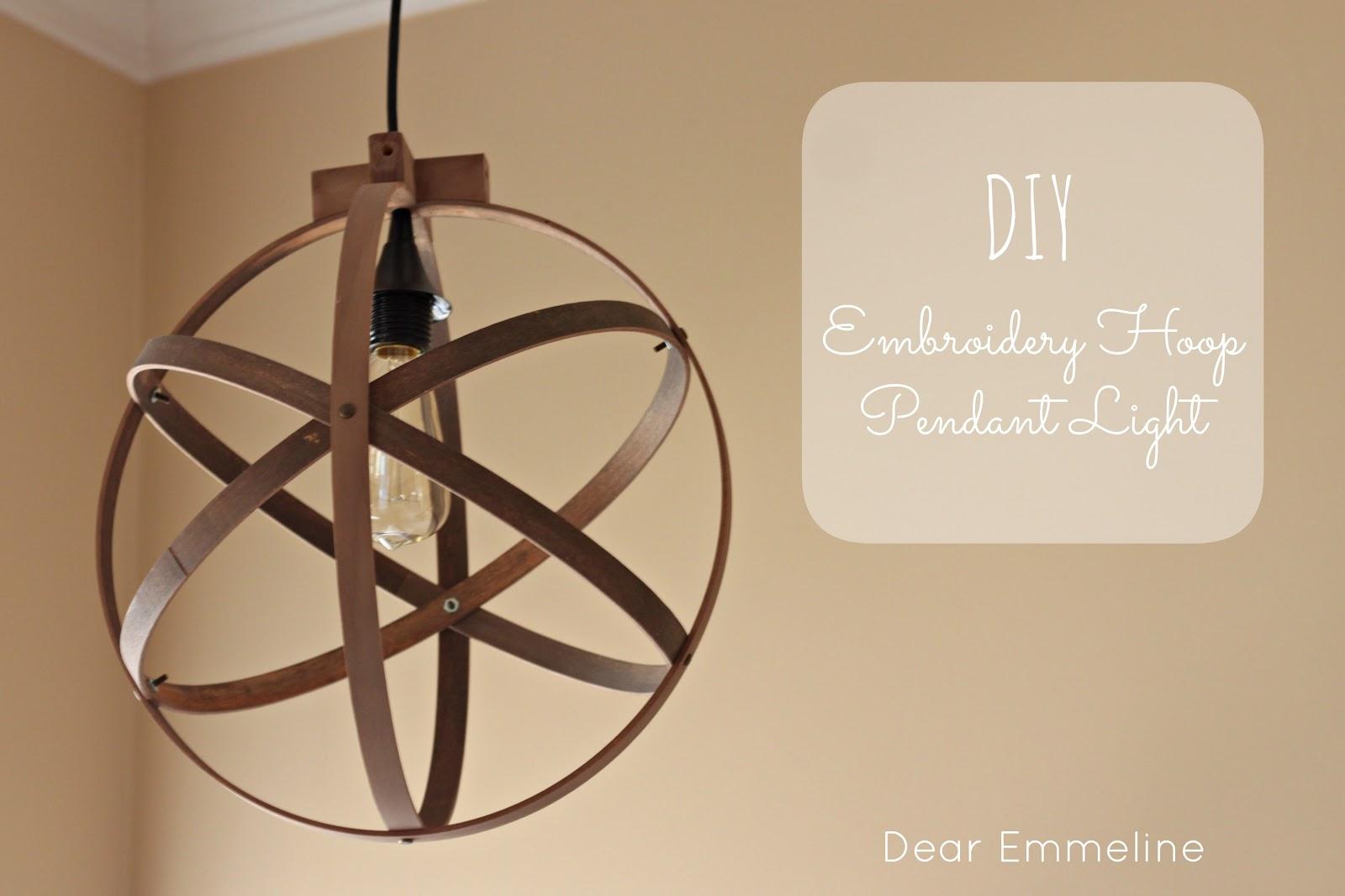 Diy easy embroidery hoop pendant aloadofball Image collections