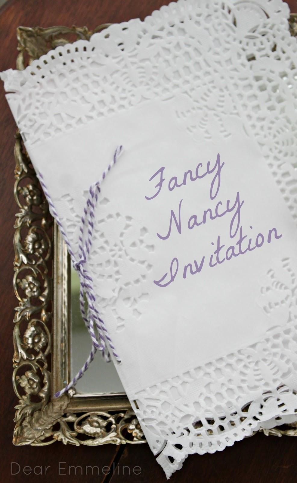 Paper Doily Invitation {Fancy Nancy Party}