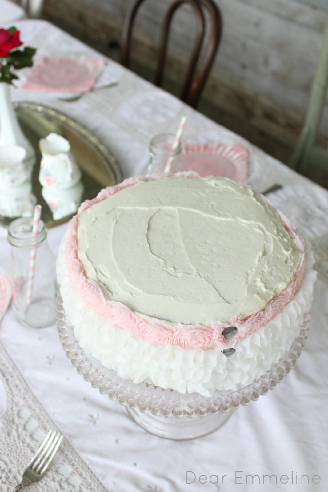 Easy Diy Ruffled Birthday Cake