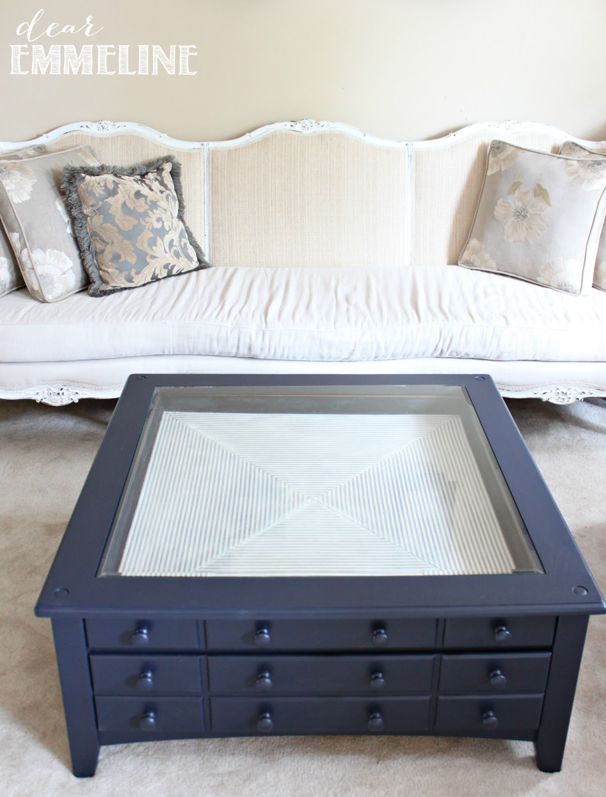 Nautical Coffee Table Redo
