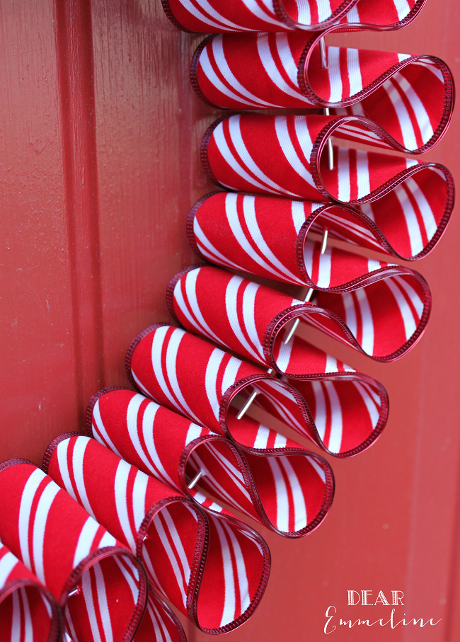 December 7 Ribbon Candy Wreath