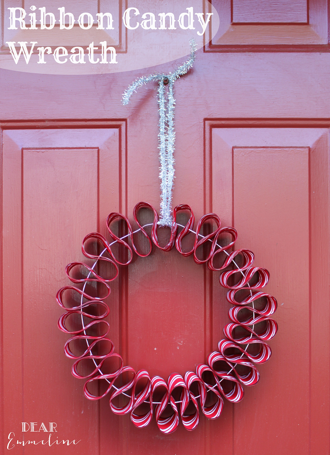 December 7: Ribbon Candy Wreath