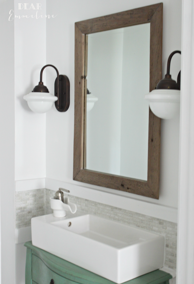 Narrow Half Bathroom Reveal 1910 Home Renovation