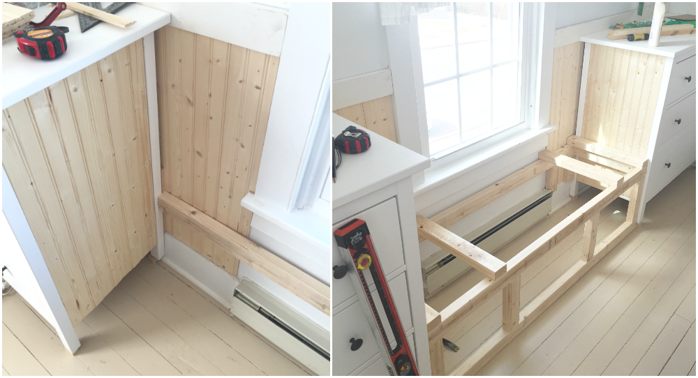 Double Dresser Window Seat Built In With Ikea Hemnes