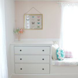 Double Dresser Window Seat Built-In with Ikea Hemnes
