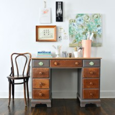 Two-Toned Driftwood Desk