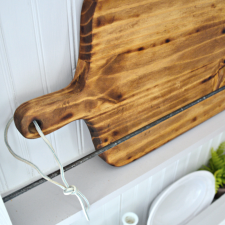 DIY Naturally Stained New Wood Cutting Board