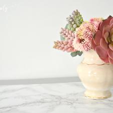 Spray It Pretty | Grey & Marble End Tables