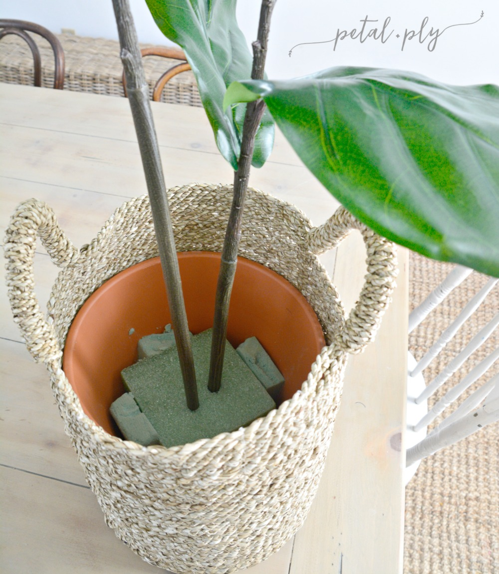 DIY-silk-fiddle-leaf-fig-construction