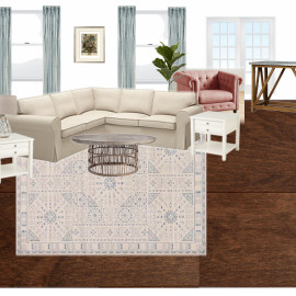 Eclectic Botanical Farmhouse Family Room | One Room Challenge™ Week 1