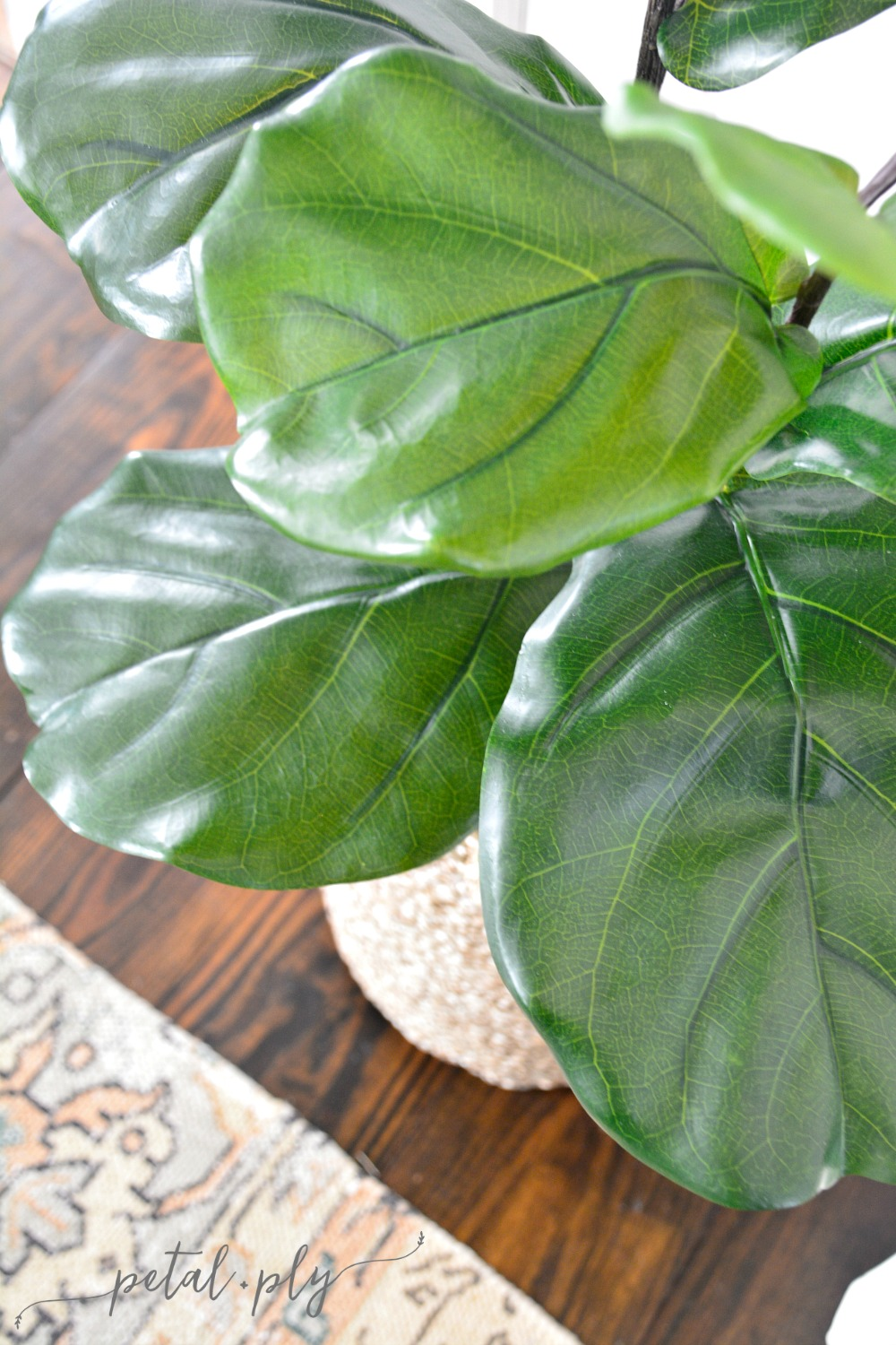 The Most Realistic Faux Fiddle Leaf Fig Diy One Room