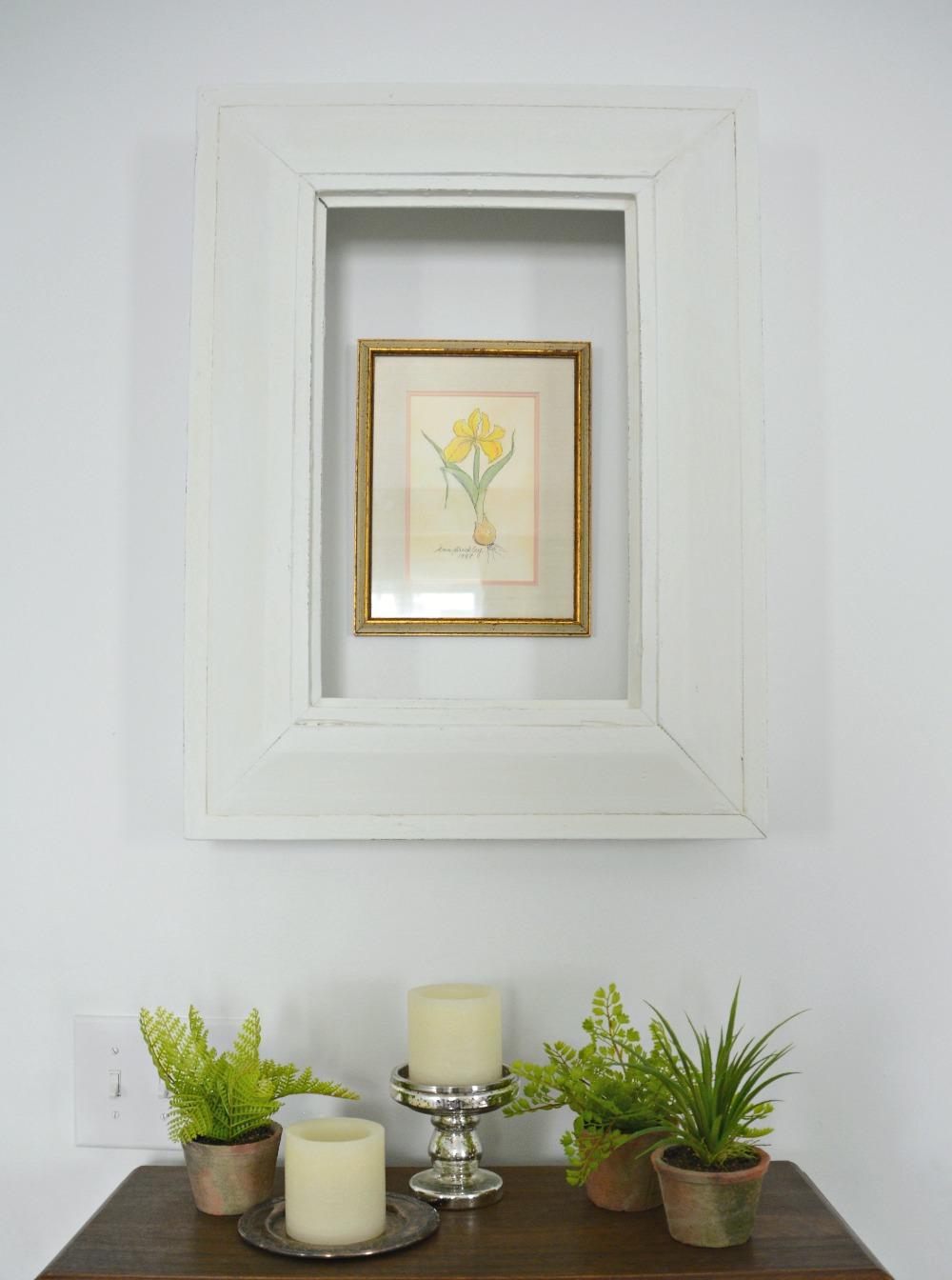 DIY-shadowbox-frame