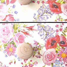 Flowers All Year | Floral Napkin Decoupage Dresser