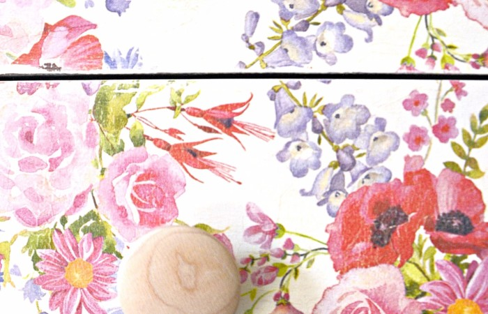 Flowers All Year | Floral Napkin Decoupage Dresser