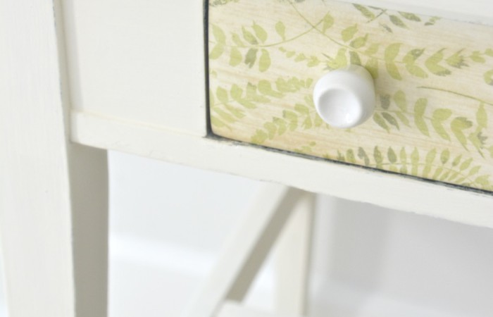 Polycrylic Napkin Decoupage Desk Makeover | One Room Challenge™ Week 4
