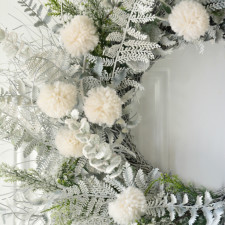 Refreshing a Tired Wreath – Frosty Winter Wreath DIY