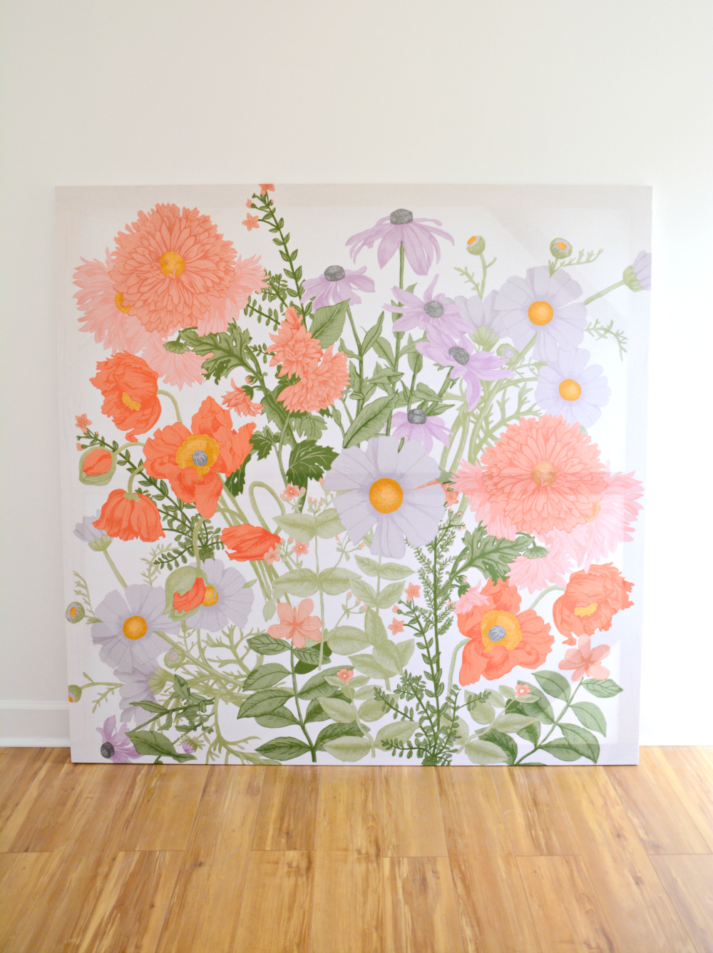 Diy Large Scale Wall Art From Cotton Shower Curtain One Room Challenge Week 5