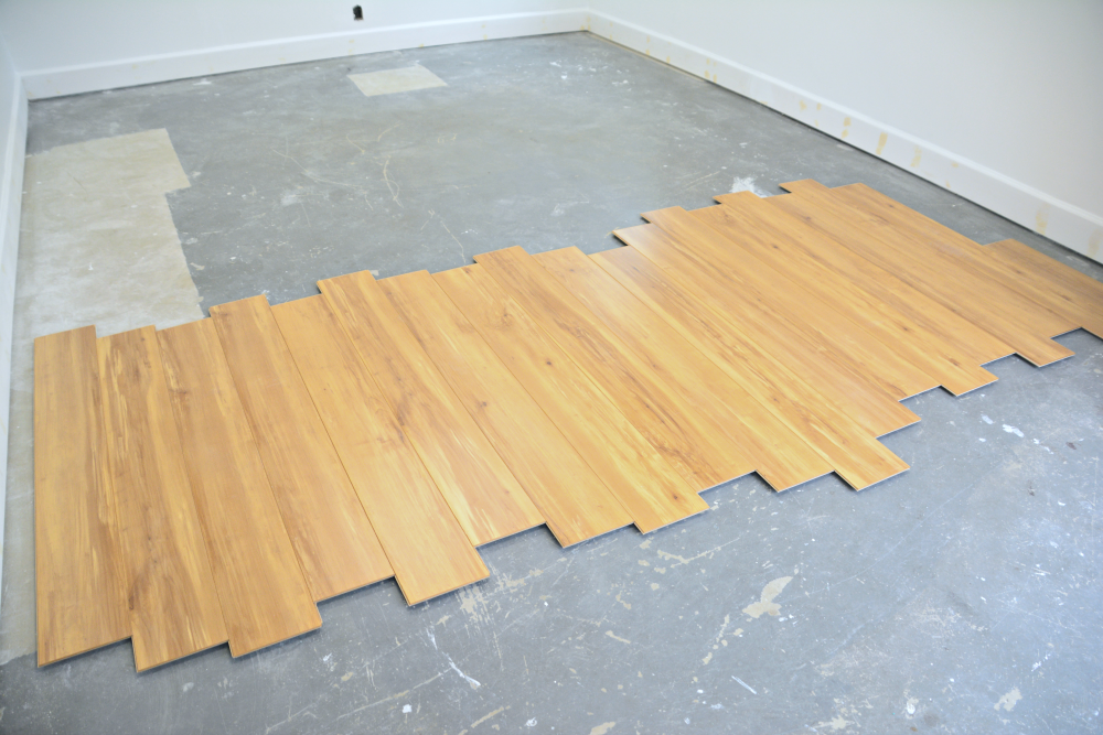 We Also Measured The Room From Front To Back Determine How Long Cut Starting Plank Again Make Sure It Met Minimum Length Specifications At