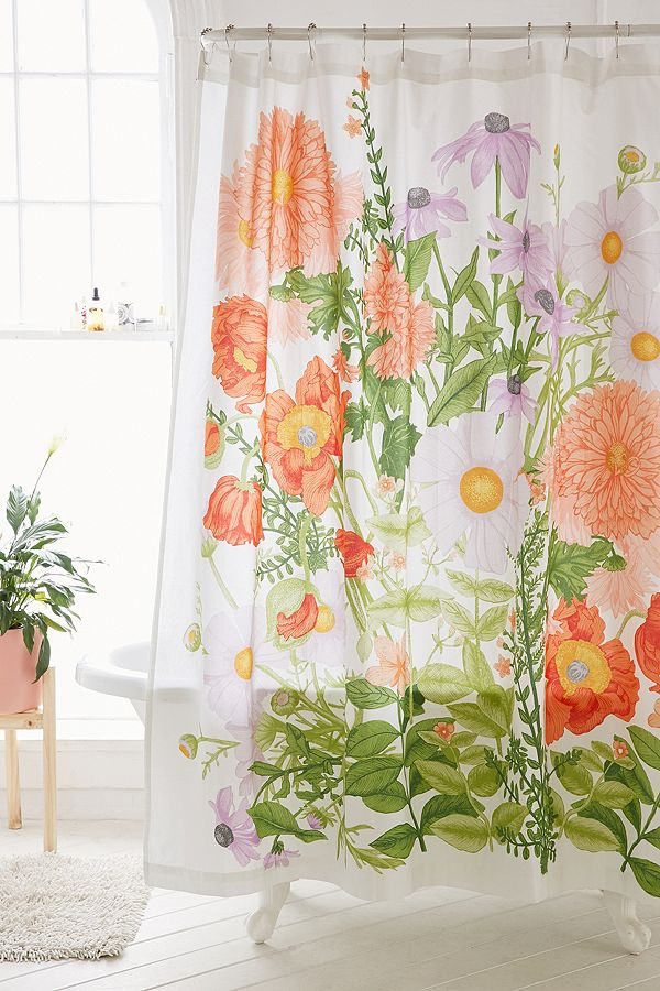 I Loved The Colors And Scale Of Marina Floral Shower Curtain From Urban Outfitters